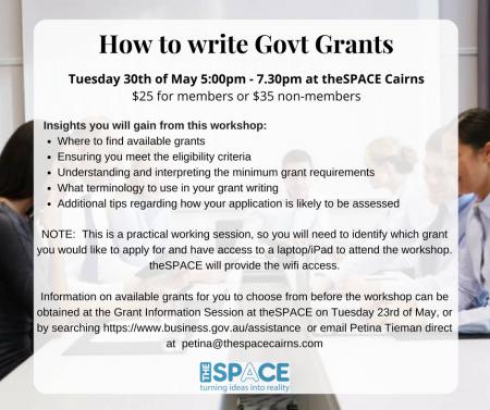 How to Write Govt Grants