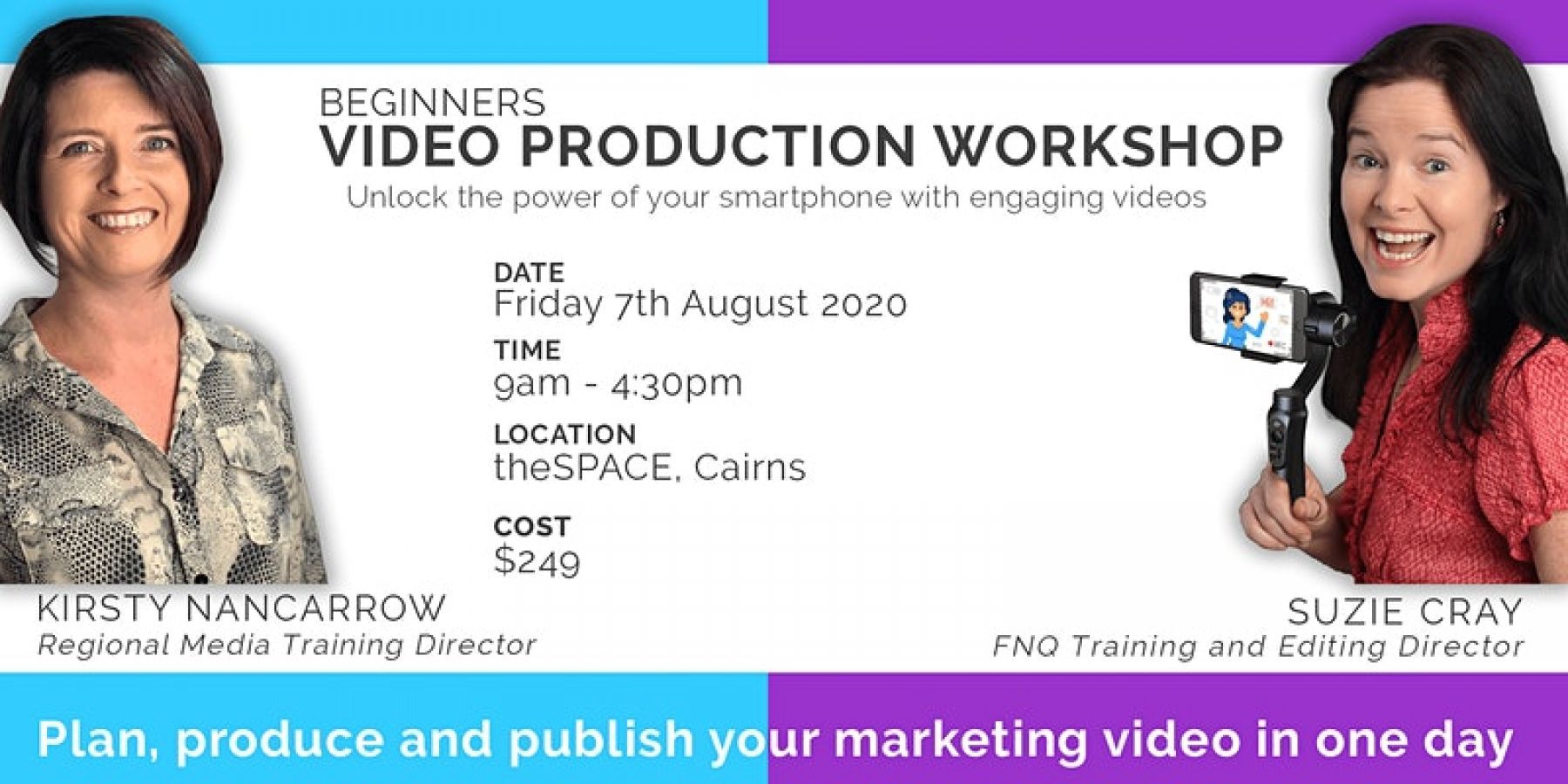 Beginners Video Production - Plan, Produce Publish (Cairns Full Day)